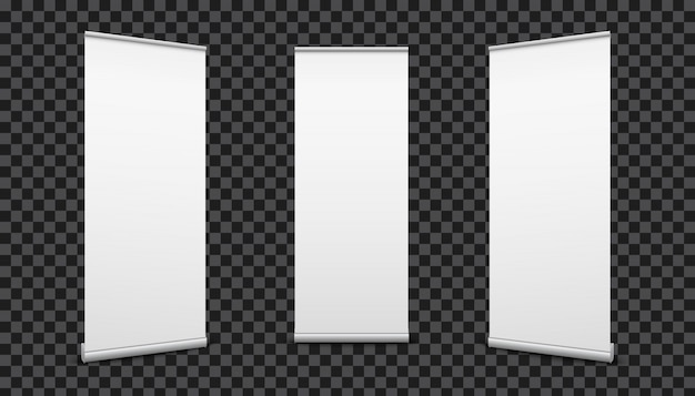 Arregace banners fundo de textura de lona de papel. Vetor Premium