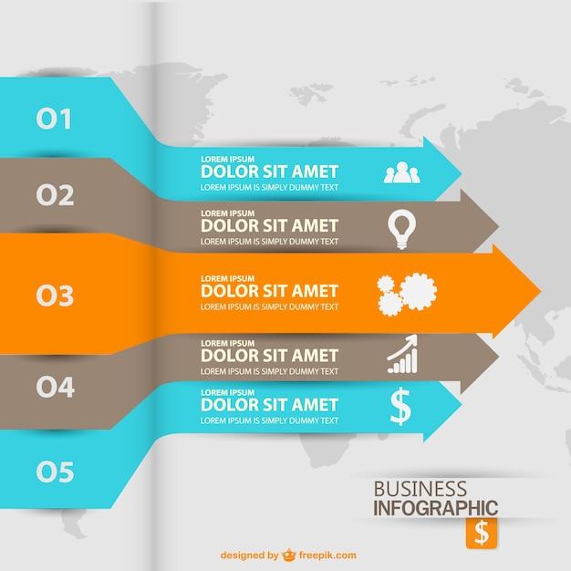 Arrow labels comercialização infografia Vetor grátis