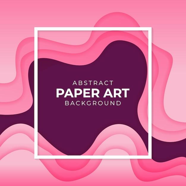 Arte abstrata papel colorido fundo gradiente Vetor Premium