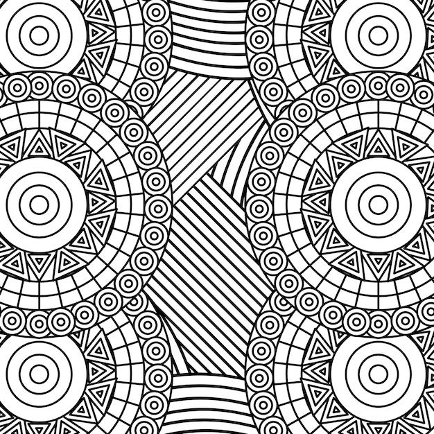 Arte Abstrata Para Colorir Para Adultos Vetor Premium