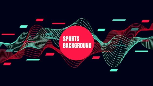 Arte colorida abstrata para o fundo de esportes Vetor Premium