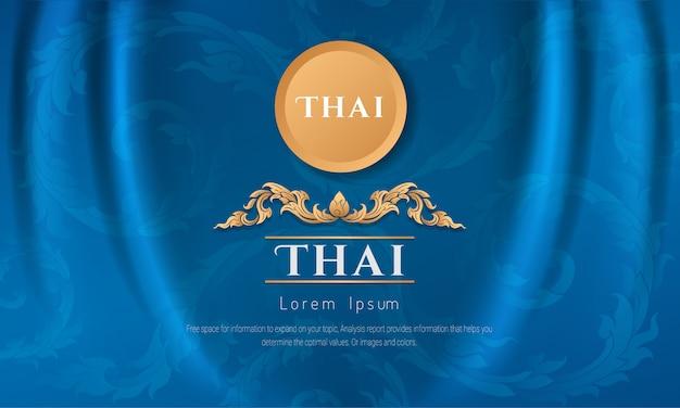 Arte da formação de thailan. Vetor Premium