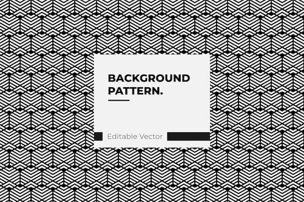 Arte de estilo de linha hexagonal de padrão geométrico abstrato - ilustração de padrão Vetor Premium
