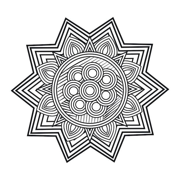 Arte de mandala isolado ícone vector ilustração design Vetor Premium