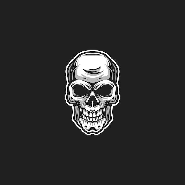 Arte do crânio Vetor Premium