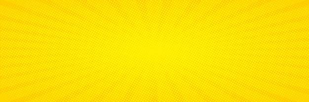 Arte pop. fundo com pontos. fundo amarelo em quadrinhos. padrão retro engraçado dos desenhos animados. ilustração vetorial Vetor Premium