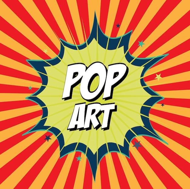 Arte pop Vetor grátis