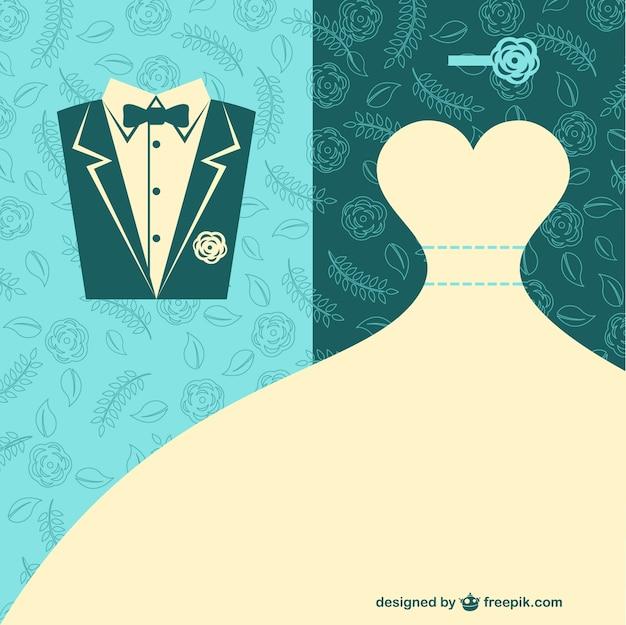 Arte vetor casamento Vetor grátis