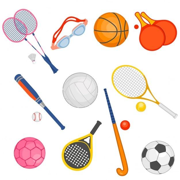 Artigos de desporto Vetor grátis