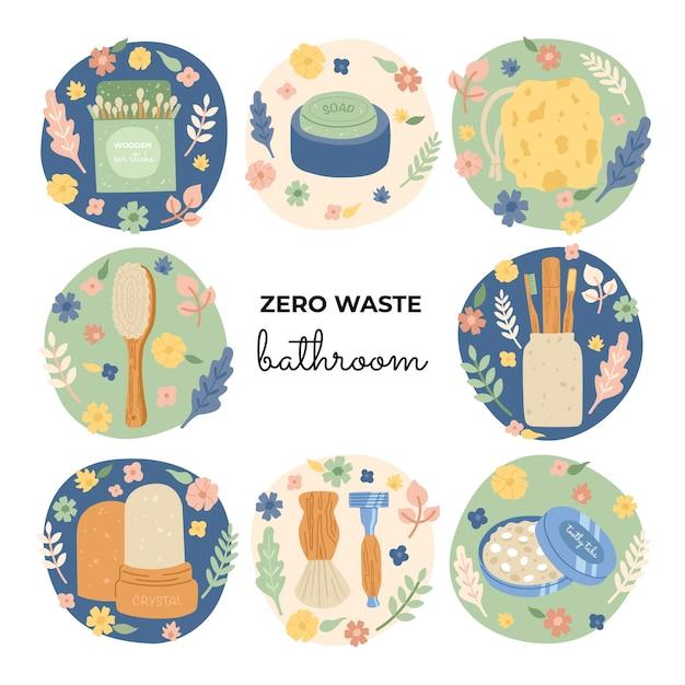 Artigos ecológicos de higiene pessoal Vetor Premium