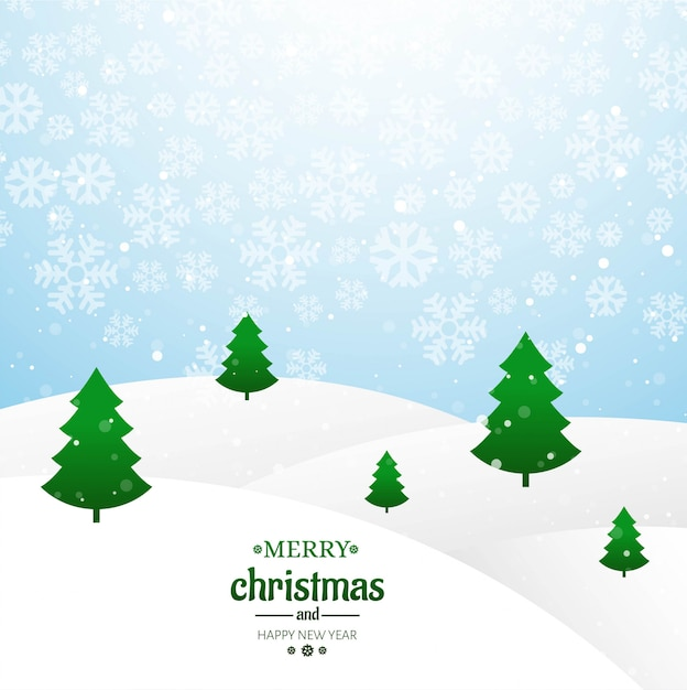 Árvore de cartão feliz natal com vetor de fundo glitters Vetor grátis