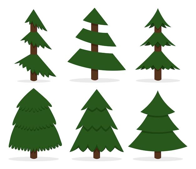 Árvore de estrutura Vetor Premium