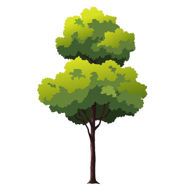 Árvore de ilustração para desenhos animados Vetor Premium