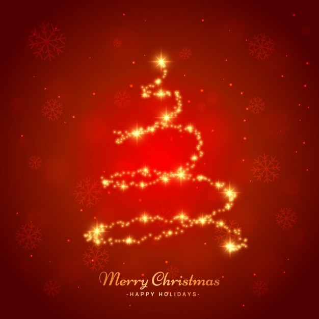 árvore de Natal brilhante Vetor grátis