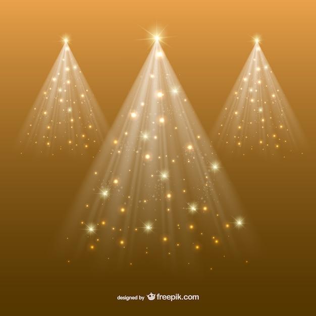 Árvore de natal dourada abstrata Vetor grátis