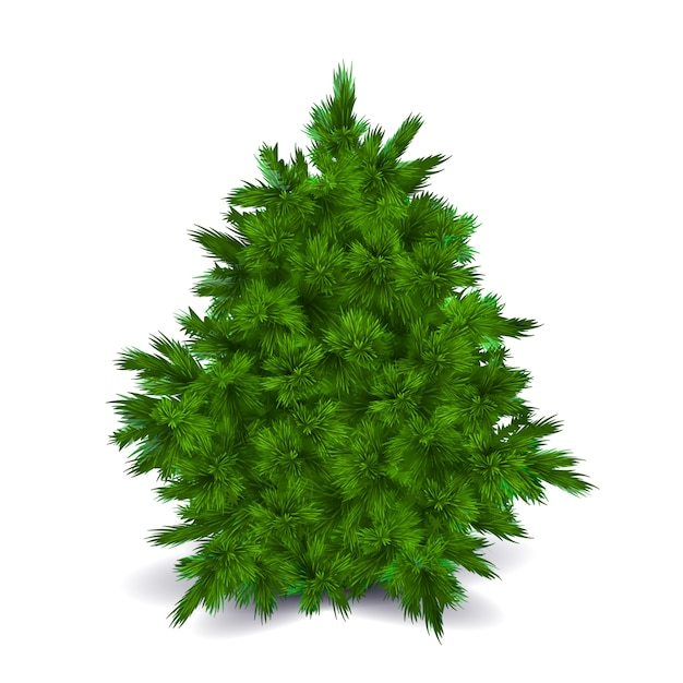 Árvore de natal em branco Vetor Premium