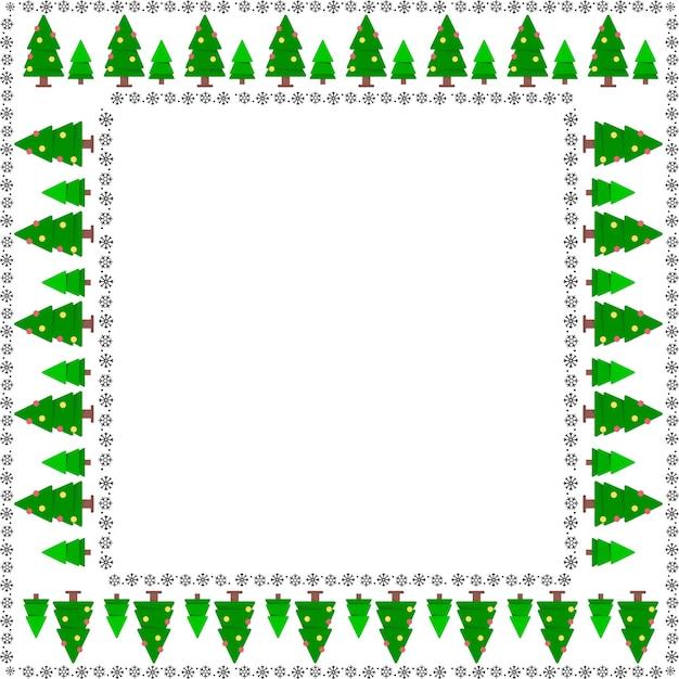 Árvore de quadro de natal Vetor grátis