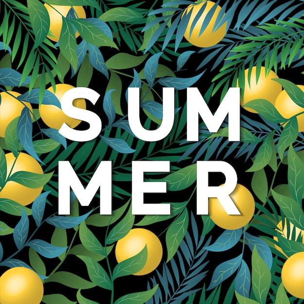 Árvore de verão e fundo fresco Vetor Premium