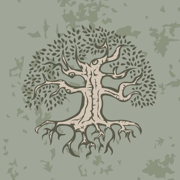 Árvore desenhada à mão Vetor grátis