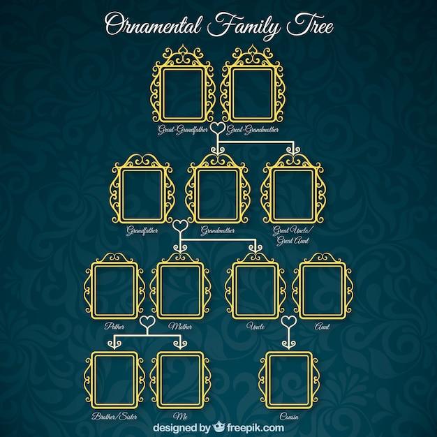 Árvore genealógica ornamental Vetor grátis