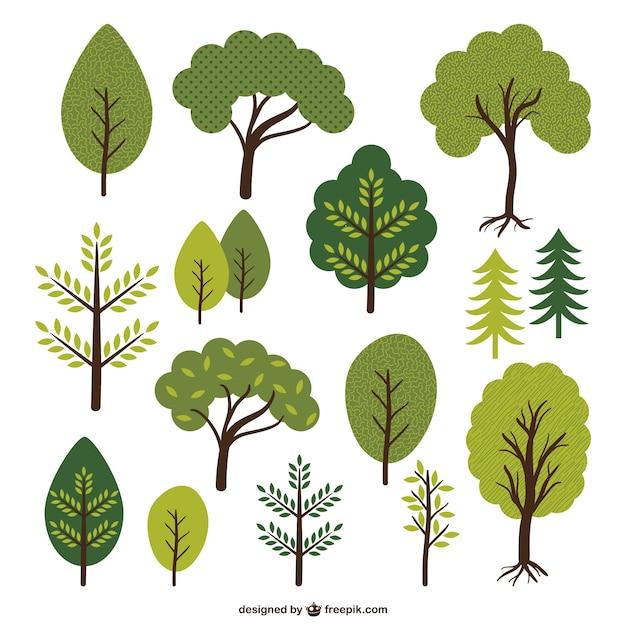 Rvores e folhas cole o baixar vetores gr tis - Modello di foglia per bambini ...