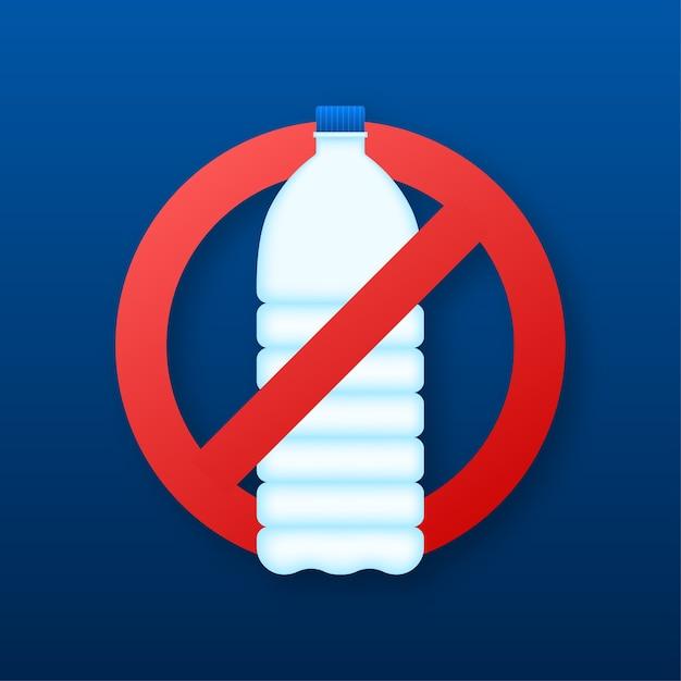 As bebidas são proibidas de símbolo de vetor plana. sinal de vetor plano sem bebidas Vetor Premium