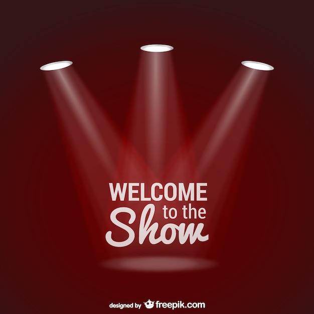 As boas-vindas ao vetor show com holofotes Vetor grátis