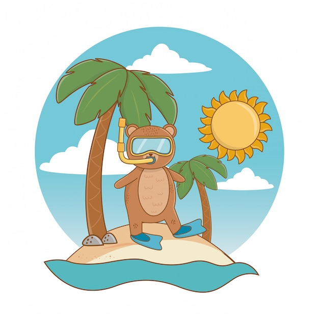 As férias de verão relaxam desenhos animados Vetor grátis