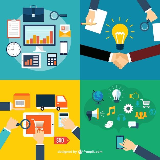 As funções corporativas ícones Vetor grátis