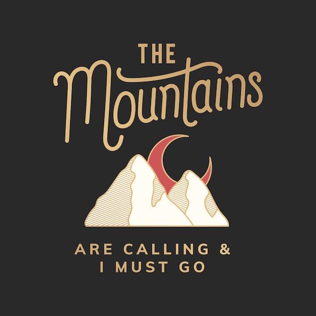 As montanhas estão chamando de ilustração Vetor grátis