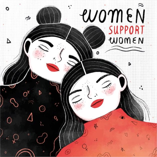 As mulheres apoiam o conceito de mulheres Vetor grátis