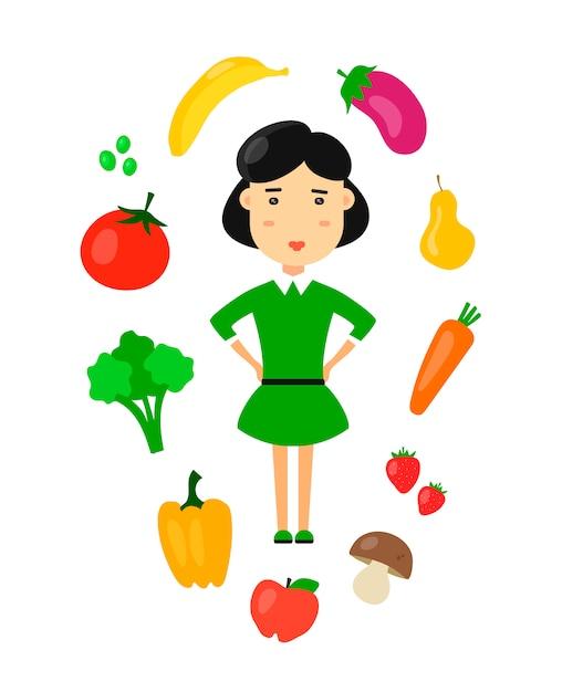 As Mulheres Comem Comida Saudavel Vegetariana Organica Da Natureza