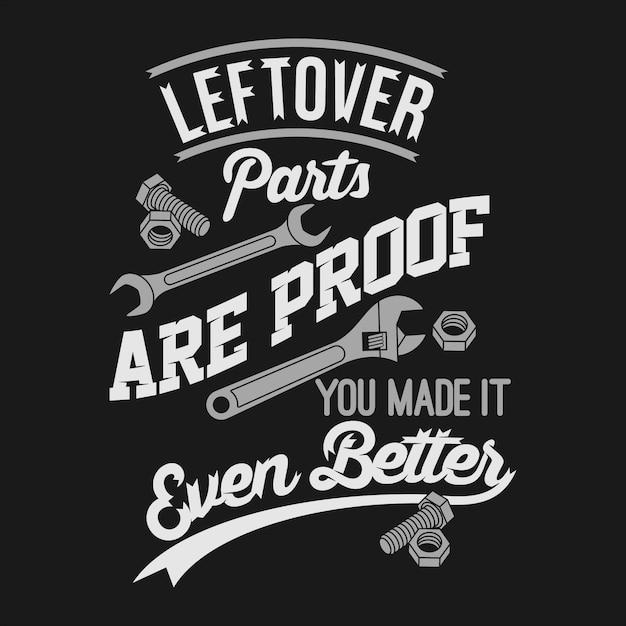 As peças restantes são a prova de que você a tornou ainda melhor. Vetor Premium
