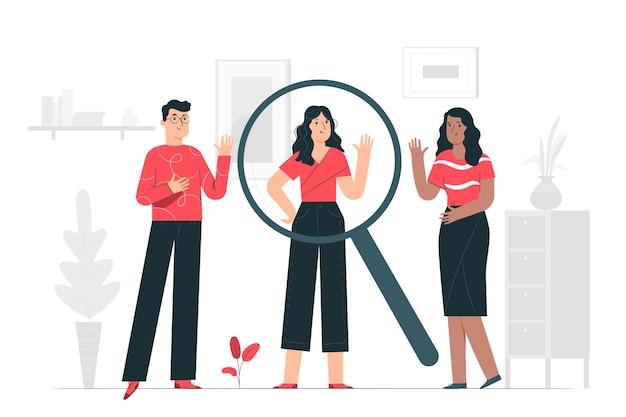 As pessoas pesquisam ilustração do conceito Vetor grátis