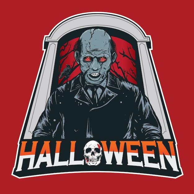 Assassino na festa de halloween Vetor Premium