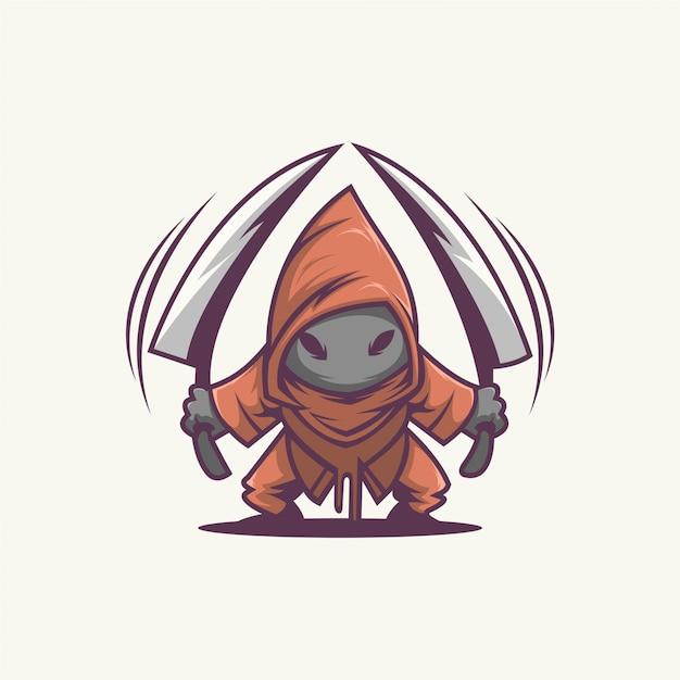 Assassino personagem Vetor Premium