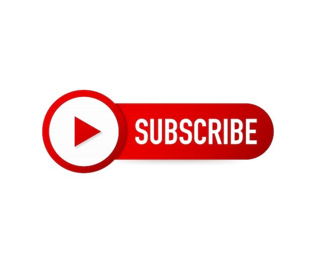 Assine o ícone do botão. conceito de negócio inscrever pictograma. Vetor Premium