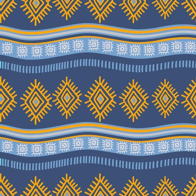 Asteca mão desenhada padrão ornamental desenho de fundo Vetor Premium