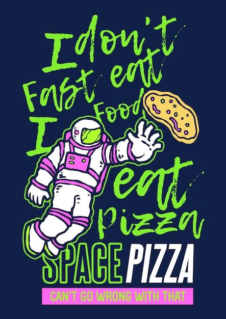 Astro pizza Vetor Premium