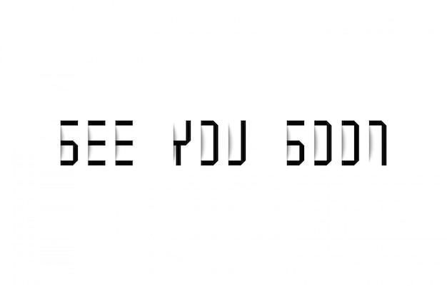 Até logo tipografia com efeito sombra Vetor Premium