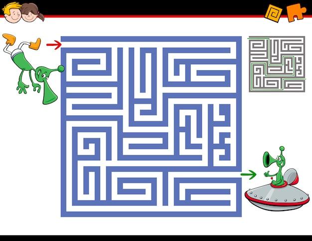 Atividade de labirinto para crianças Vetor Premium