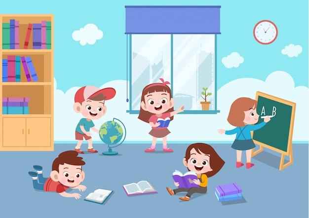 Atividade escolar Vetor Premium