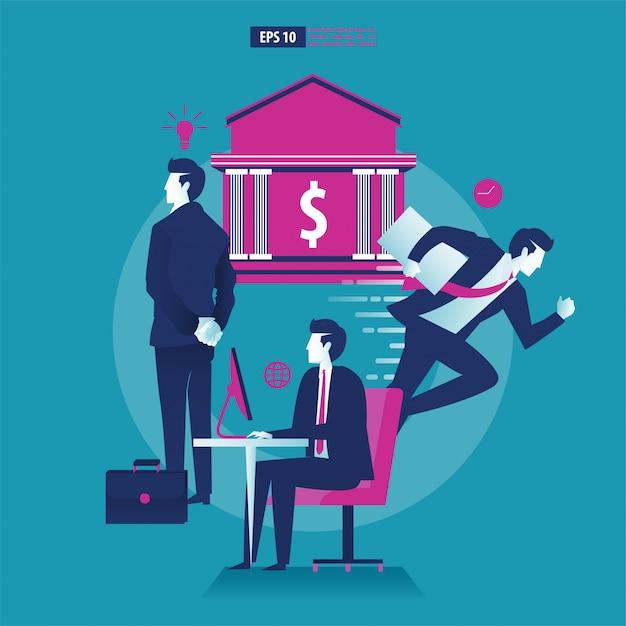 Atividades do empresário multitarefa para se tornar um sucesso. Vetor Premium