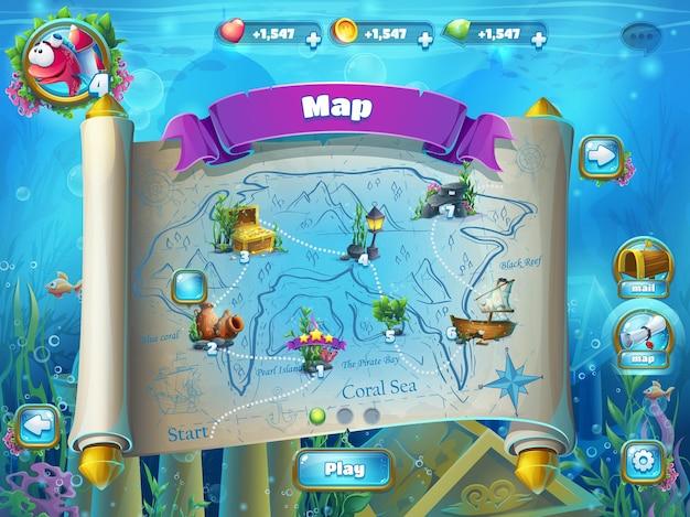 Atlantis destrói a ilustração do campo de jogo Vetor Premium