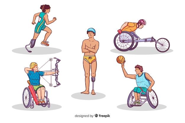 Atleta com deficiência Vetor grátis