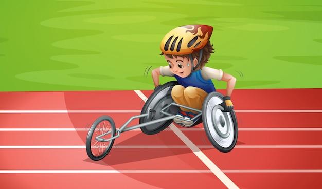 Atletas paraolímpicos no estádio Vetor Premium