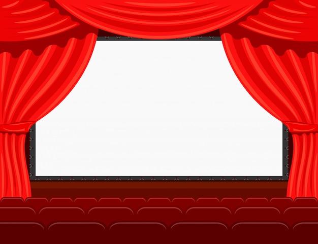 Auditório do cinema Vetor Premium