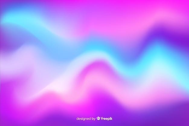 Aurora boreal colorida abstrato Vetor grátis