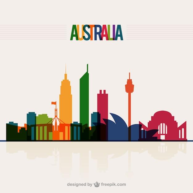 Austrália skyline Vetor grátis