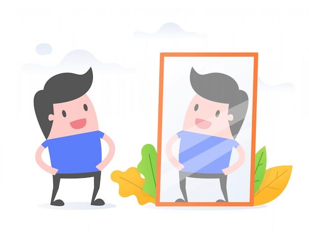 Auto-consciência. Vetor Premium